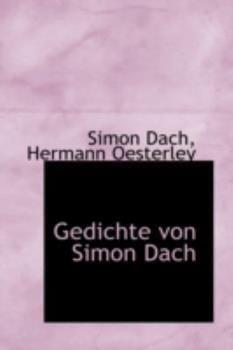 Paperback Gedichte Von Simon Dach Book