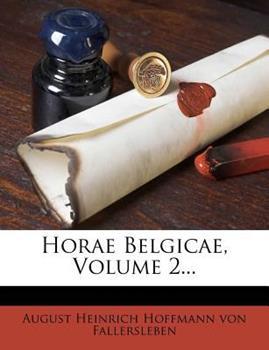 Paperback Horae Belgicae, Volume 2... Book
