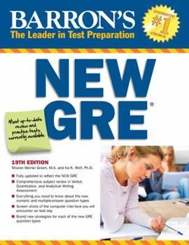 Paperback Barron's New GRE Book
