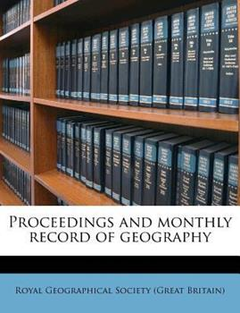 Paperback Proceedings and Monthly Record of Geography Book