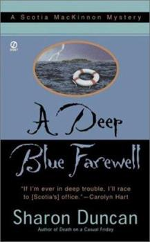 A Deep Blue Farewell (Scotia MacKinnon Mysteries) 0451206770 Book Cover