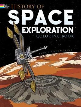 Paperback History of Space Exploration Coloring Book