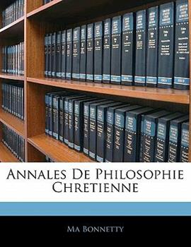 Paperback Annales de Philosophie Chretienne Book