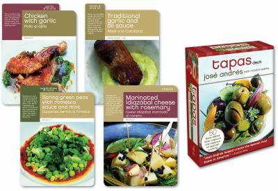 Tapas Deck: 50 Little Dishes that Capture the Essence of Spanish Cooking 0307393615 Book Cover