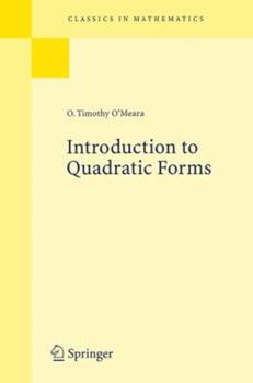 Paperback Introduction to Quadratic Forms Book