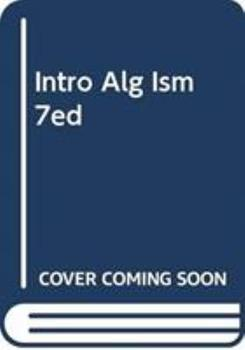 Paperback Intro Alg Ism 7ed Book