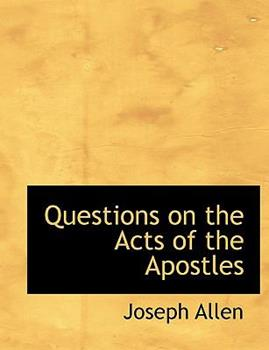 Paperback Questions on the Acts of the Apostles [Large Print] Book