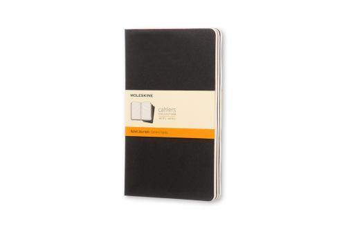 Paperback Moleskine Cahier Journal (Set of 3), Large, Ruled, Black, Soft Cover (5 X 8.25): Set of 3 Ruled Journals Book