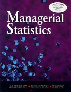 Managerial Statistics 0534349811 Book Cover