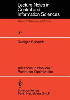 Paperback Advances in Nonlinear Parameter Optimization Book