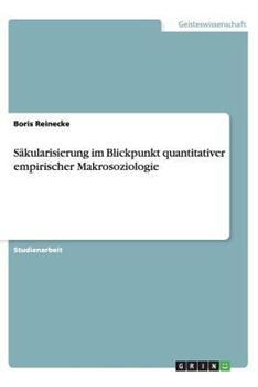 Paperback S?kularisierung Im Blickpunkt Quantitativer Empirischer Makrosoziologie [German] Book