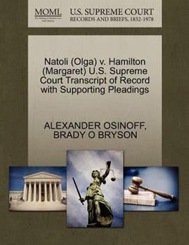 Paperback Natoli V. Hamilton U. S. Supreme Court Transcript of Record with Supporting Pleadings Book