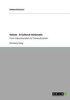 Paperback Values - a Cultural Axiomatic Book