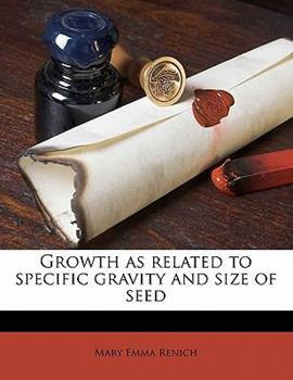 Paperback Growth As Related to Specific Gravity and Size of Seed Book