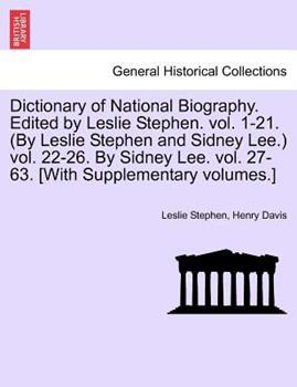 Paperback Dictionary of National Biography, Volume LVI Teach - Tollet, Edited by Sidney Lee Book