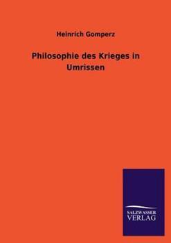 Paperback Philosophie des Krieges in Umrissen Book