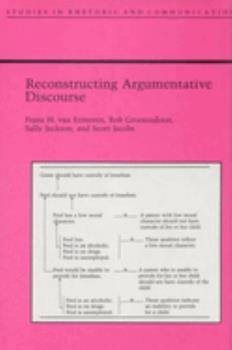 Paperback Reconstructing Argumentative Discourse Book