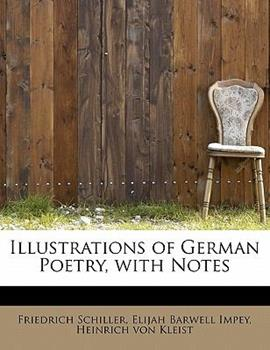 Paperback Illustrations of German Poetry, with Notes Book