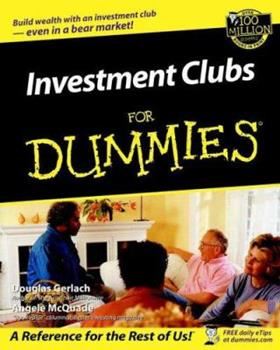 Investment Clubs for Dummies 0764554093 Book Cover