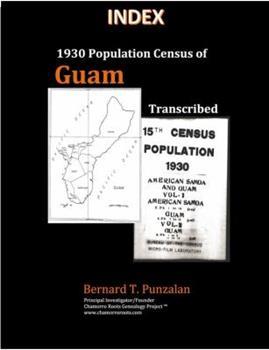 Paperback INDEX - 1930 Population Census of Guam: Transcribed Book