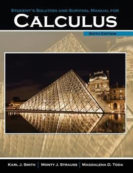 Student's Solution Manual and Survival Manual for Calculus 1465241655 Book Cover