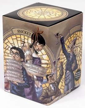 The Loathsome Library: A Box of Unfortunate Events, Books 1-6 (The Bad Beginning; The Reptile Room; The Wide Window; The Miserable Mill; The Austere Academy; The Ersatz Elevator) - Book  of the A Series of Unfortunate Events