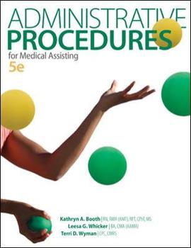 Administrative Procedures for Medical Assisting 0077656075 Book Cover