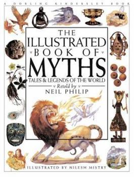 Paperback Illustrated Book of Myths Paperback Book