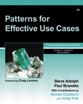 Patterns for Effective Use Cases 0201721848 Book Cover