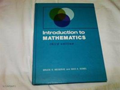Introduction to Mathematics 0134991044 Book Cover