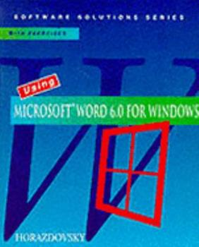 Paperback Using Microsoft Word 6.0 for Windows Book
