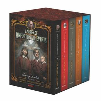 A Series of Unfortunate Events Book Set - Books #5-9 (The Austere Academy, The Ersatz Elevator, The Vile Village, The Hostile Hospital, The Carnivorous Carnival) - Book  of the A Series of Unfortunate Events