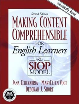Paperback Making Content Comprehensible for English Language Learners : The SIOP Model Book