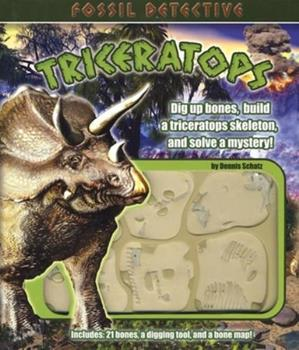 Hardcover Fossil Detective Triceratops Book