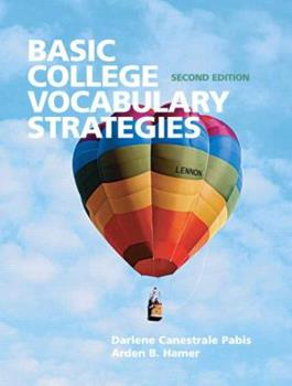 Paperback Basic College Vocabulary Strategies (2nd Edition) Book
