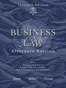 West's Business Law, Alternate Edition (with Online Legal Research Guide) 0324000863 Book Cover