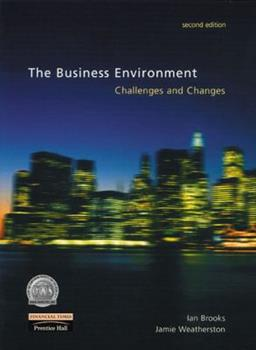Paperback The Business Environment: Challenges and Changes Book