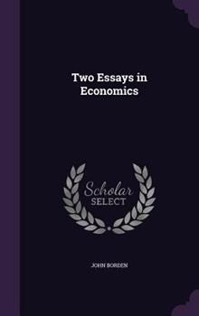 Hardcover Two Essays in Economics Book