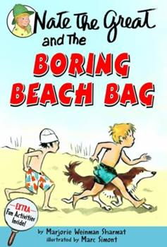 Nate The Great And The Boring Beach Bag (Nate The Great, paper) 0440401682 Book Cover