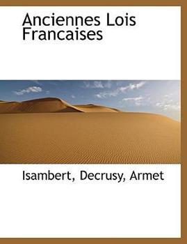 Paperback Anciennes Lois Francaises Book
