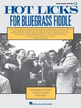 Hot Licks For Bluegrass Fiddle 0825602890 Book Cover