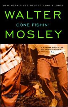 """Gone Fishin': Featuring an Original Easy Rawlins Short Story """"Smoke"""" (Easy Rawlins Mysteries (Paperback)) 0671010115 Book Cover"""