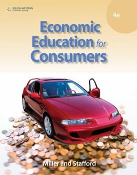 Economic Education for Consumers 0538435798 Book Cover