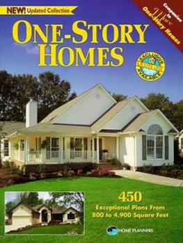 Paperback One-Story Homes: Over 450 Designs for Single-Level Living Book