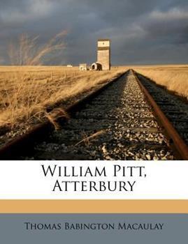 Paperback William Pitt, Atterbury Book