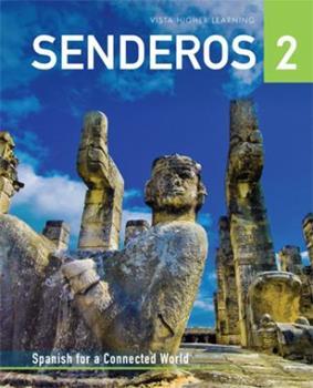 Hardcover Senderos, Level 2, Student Textbook Supersite Plus Code (w/ vText) [Spanish] Book