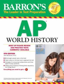 Paperback Barron's AP World History, 5th Edition Book
