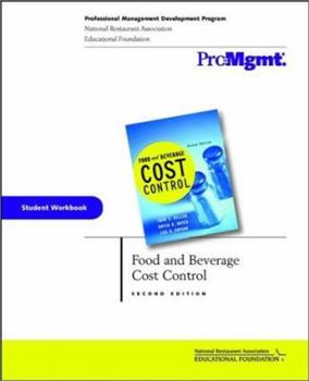 Food and Beverage Cost Control Workbook 0471149934 Book Cover