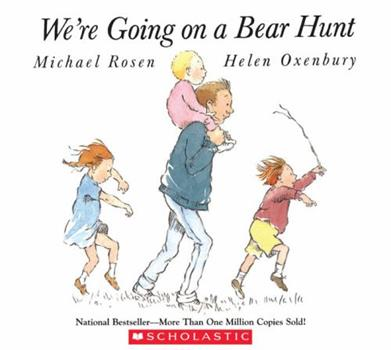 Paperback We're Going on a Bear Hunt Book & Audio CD Book