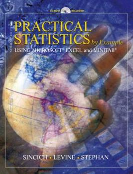 Practical Statistics by Example Using Microsoft Excel and Minitab (2nd Edition) 0130415219 Book Cover